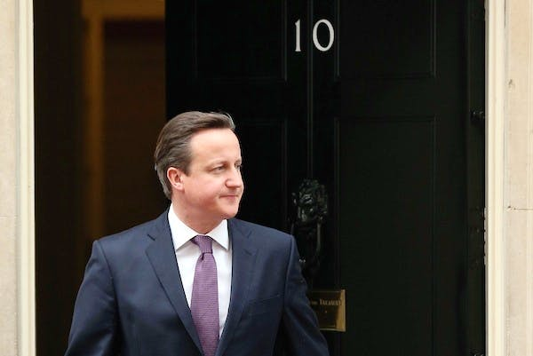 David Cameron in Downing Street today. Tomorrow the Prime Minister will deliver his long-awaited speech on Europe. Picture: Getty