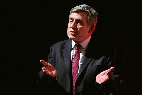 Gordon Brown scrapped the 10p band in 2008: Robert Halfon wants to restore it. Picture: Getty