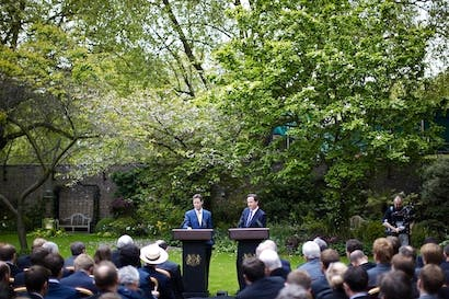 Today's mid-term review press conference will be a far cry from the Rose Garden in 2010. Picture: Press Association