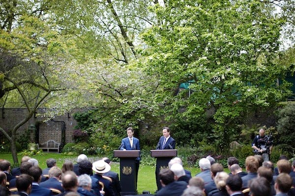 Want to know what progress the government has made since the days of the Rose Garden? Its pledge audit might not help you. Picture: PA