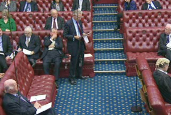 Lord Fowler speaking on press regulation in the House of Lords this morning.