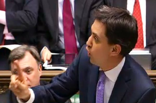 Ed Miliband at Prime Minister's Questions today.