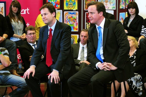 David Cameron and Nick Clegg answering questions after the 2010 comprehensive spending review. The two parties are working out their negotiating positions ahead of the 2015/16 spending round. Picture: Getty