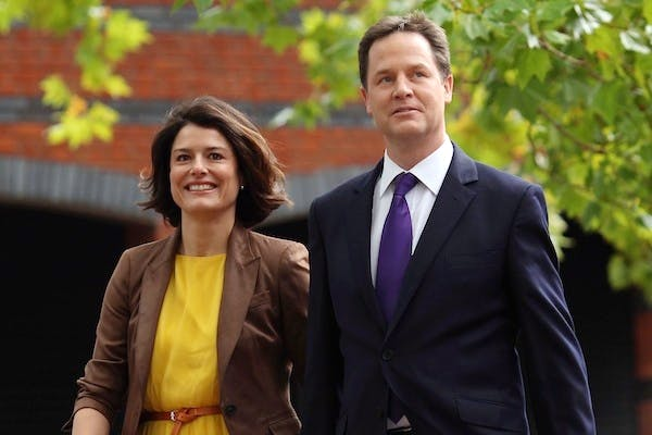 Nick Clegg and his wife Miriam might not be bothered by a tax break for married couples, but there are plenty of people who would benefit from it. Picture: Getty