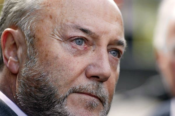 George Galloway last night stormed out of a debate in Oxford. Picture: Getty