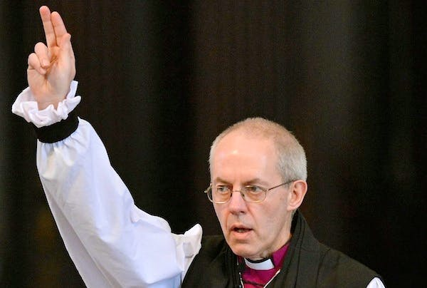Justin Welby could find the announcement of the next Pope overshadows his enthronement. Picture: Getty