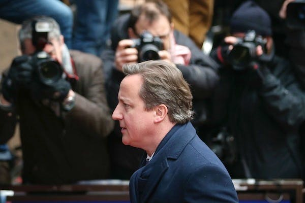 David Cameron arrives at the European Council summit in Brussels. Picture: Getty