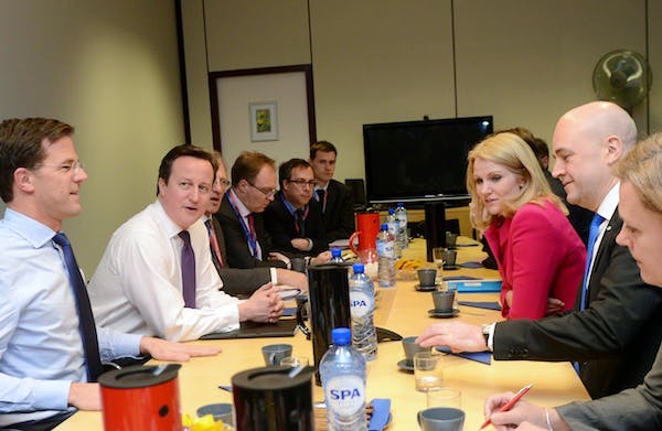 David Cameron meets with key allies as EU Budget talks get underway. Picture: Getty