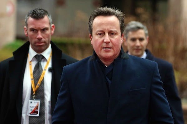 David Cameron on another chilly walk into the EU budget talks. Picture: Getty