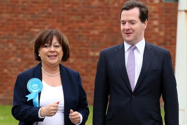 George Osborne on the campaign trail with Maria Hutchings in Eastleigh. Picture: Getty