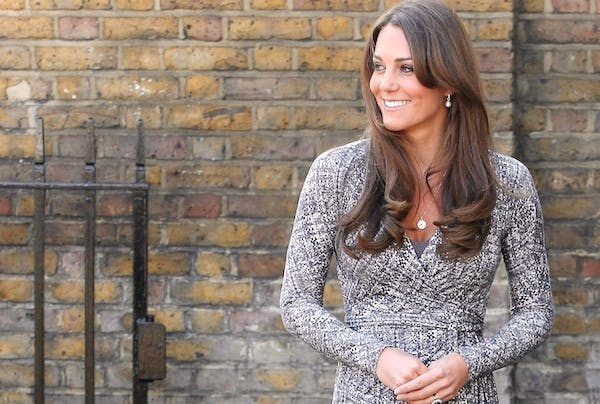 The Duchess of Cambridge on a visit this morning. Picture: Getty