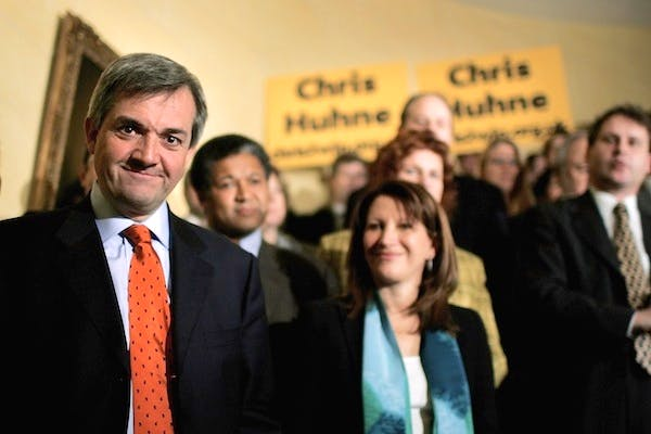 Chris Huhne at the launch of his 2006 bid for the Lib Dem leadership. He has resigned as an MP. Picture: Getty