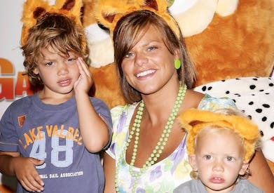 Jade Goody with her sons. Picture: Getty
