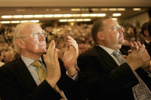 Lord Rennard (right) with Ming Campbell at a Lib Dem conference. Picture: Getty