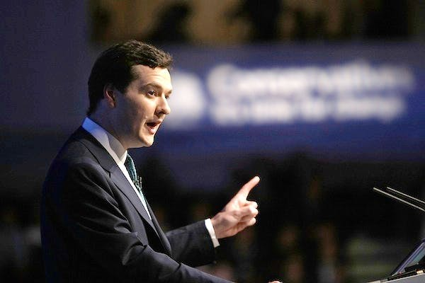 George Osborne making his pledge on inheritance tax at the 2007 Conservative conference. Picture: Getty