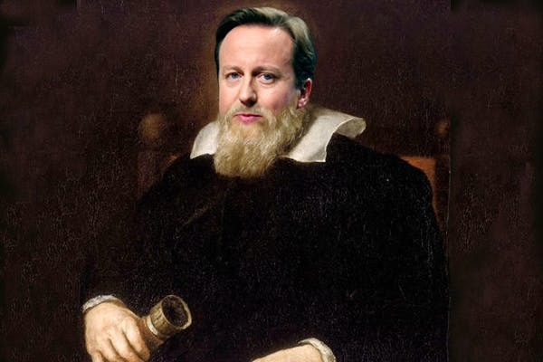 Cameron is trying to paint himself as a Galileo-style EU heretic. Picture: Carla Millar