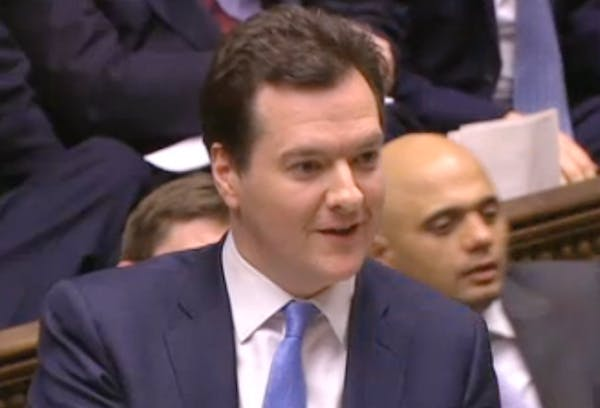 George Osborne answering Ed Balls' Urgent Question on the UK's credit rating today.