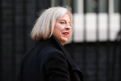 Theresa May sent a letter to Tory MPs today explaining why the government won't support a call to limit the options of foreign criminals trying to avoid deportation. Picture: Getty