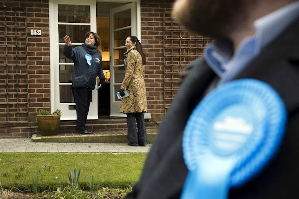Tories campaigning in Eastleigh