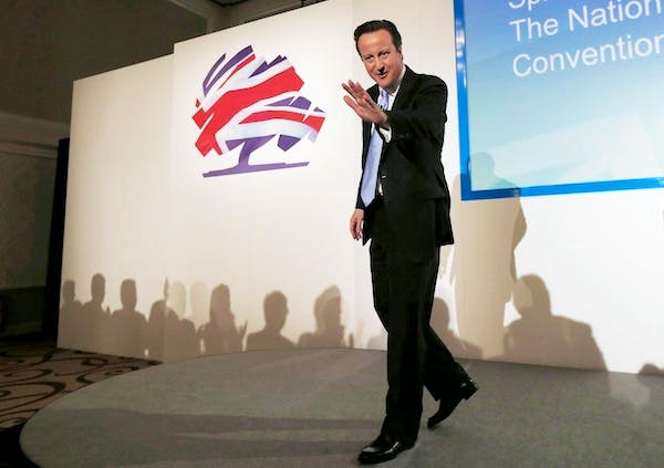 David Cameron addresses the Conservative Spring Forum. Picture: Getty