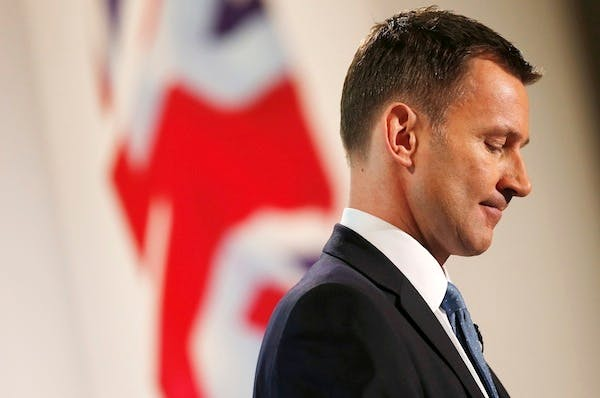 Jeremy Hunt addresses the Conservative Party Spring Forum. Picture: Getty