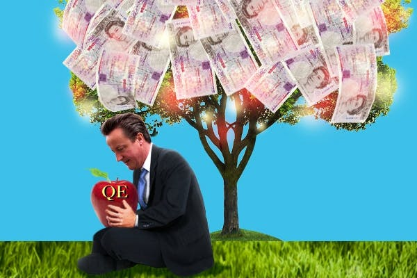 Cameron sits under his own magic money tree. Picture: Carla Millar