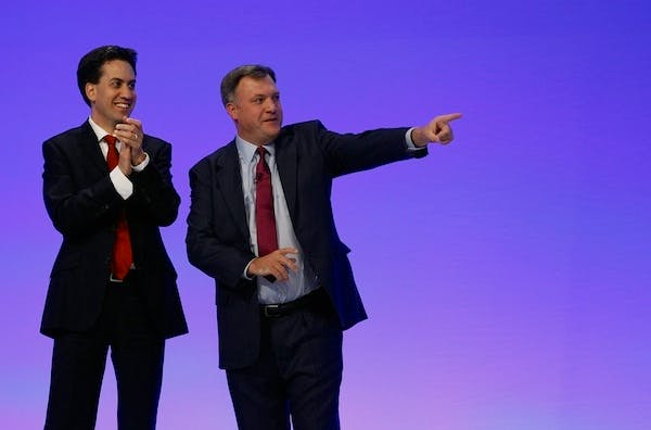 Ed Miliband and Ed Balls prefer to talk about what they would do now, rather than in 2015. Picture: Getty