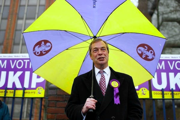 Nigel Farage campaigning. Picture: PA