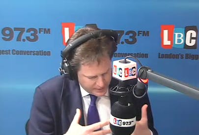 Nick Clegg explains that he's blocking the Snooper's Charter.