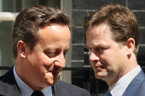 David Cameron and Nick Clegg need to have a few more organised arguments in public. Picture: Getty