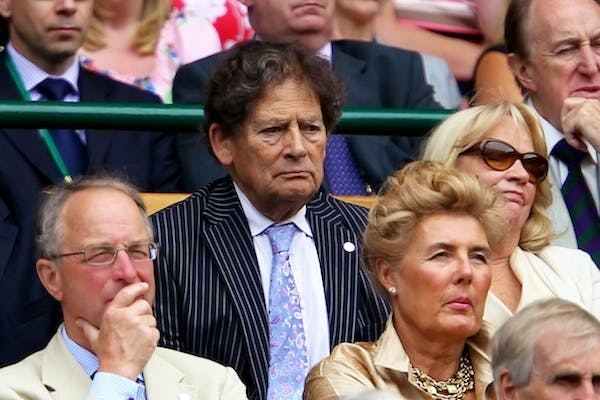 Lord Lawson watching a Wimbledon tennis match. The former Chancellor doubts any Prime Minister could win in the latest round of EU renegotiations. Picture: Getty
