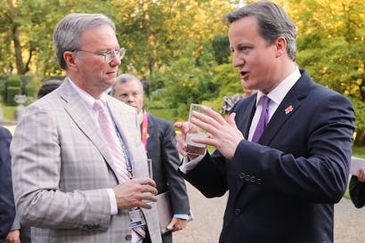 David Cameron with Google boss Eric Schmidt. Picture: Getty