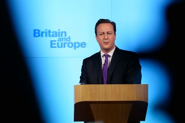 David Cameron giving his Europe speech. Picture: Getty