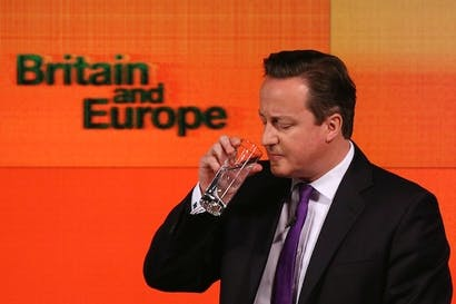 David Cameron didn't want to bang on about Europe, which has ultimately led to a great deal more banging. Picture: Getty