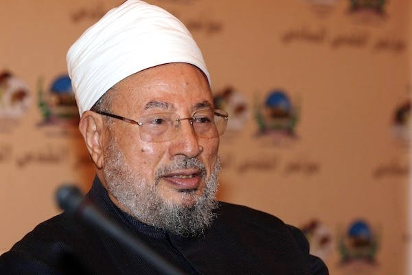 Egyptian-born cleric Sheikh Yusuf al-Qaradawi praised Hamas for firing rockets into Israel. Picture: Getty