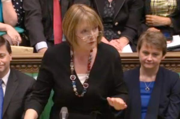 Harriet Harman at Prime Minister's Questions today.
