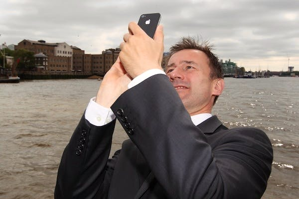 Jeremy Hunt's team have been trying to sign up loyal MPs to tweet nice things about him. Picture: Getty