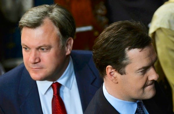 George Osborne and Ed Balls may find it's in their best interests to stay entirely silent on how they'd plug a black hole in the public finances after 2015. Picture: Getty