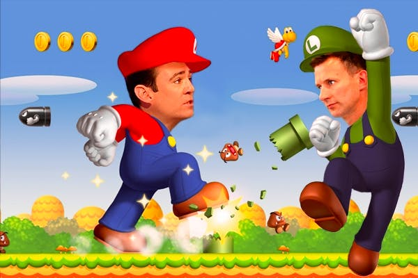 Labour and the Tories continue their political Super Mario fight for the 'party of the NHS' crown. Picture: Carla Millar