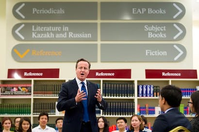 David Cameron at a PM Direct event in Kazakhstan. He has been advised that he has no power over MPs' pay. Picture: Getty
