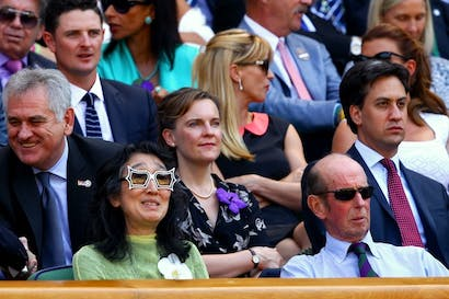 Ed Miliband watching today's Wimbledon final. Perhaps his thoughts were on another set of problems. Picture: Getty