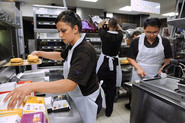 Zero hours contracts are popular with fast food chains and shops. Picture: Getty
