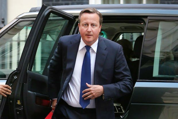 David Cameron in Downing Street today. Picture: Getty