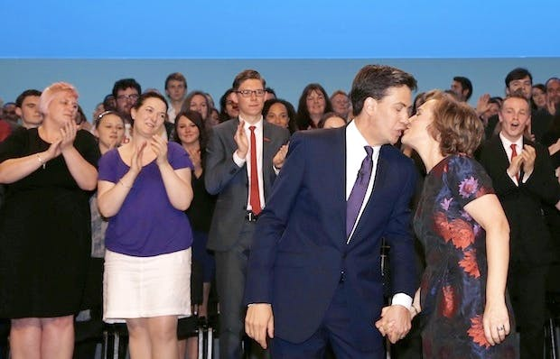 Labour's faithful applaud Ed Miliband at the end of his speech. But among their ranks is one who, YouGov's Joe Twyman claims, has a private tattoo about the economy. Picture: Getty