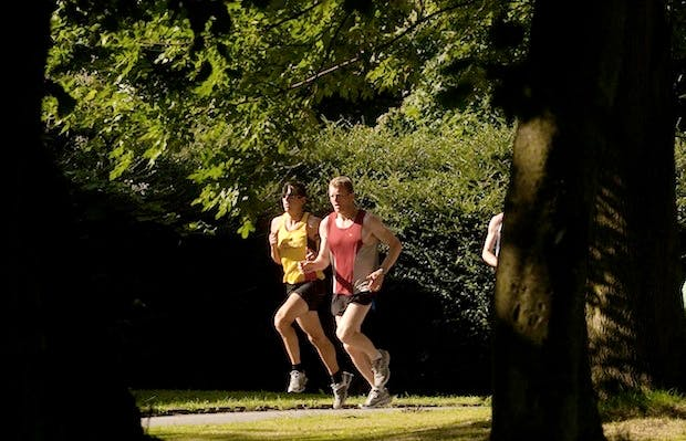 Some keen parkrun participants in Leeds. Picture: PA