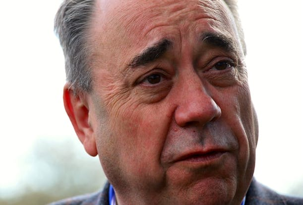 Alex Salmond Of The SNP Casts His Vote As The UK Goes To The Polls