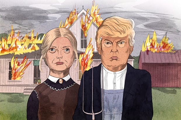 Image result for american gothic trump