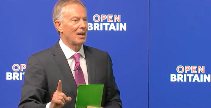 tony blair s speech The paradoxical case of tony blair  i would implore you not to lose sight of the news value and of the importance to the country of mr blair's speech.