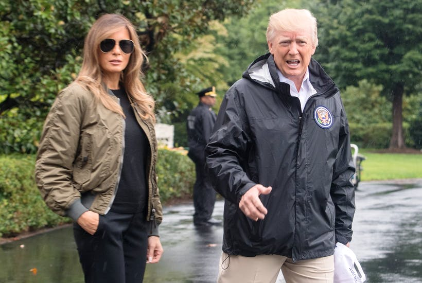 09af6e2eaebc US President Donald Trump and First Lady Melania Trump depart the White  House in Washington