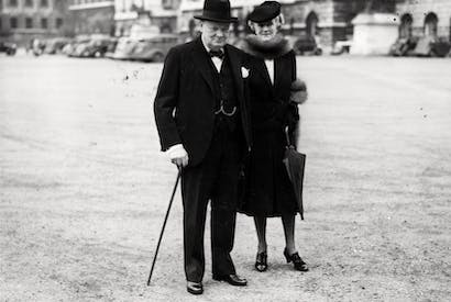 Winston Churchill and his wife Clementine